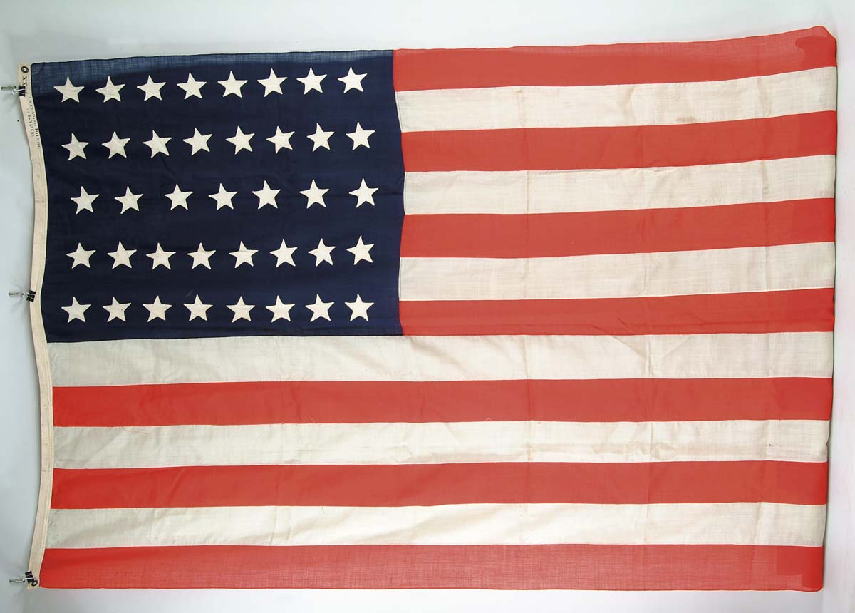 "39-STAR AMERICAN FLAG. 6'4"" x 8"" commercially"