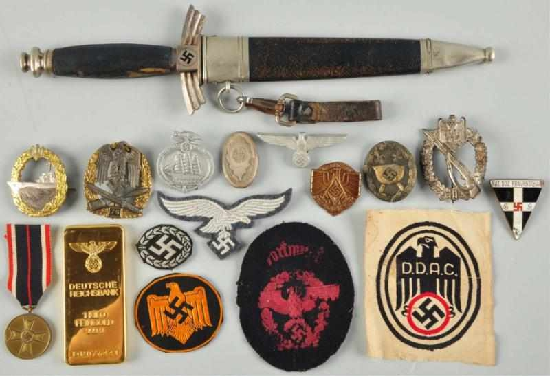 Price guide for German Nazi Military Medals, Patches, & Dagger