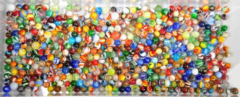 Lot of Approximately 450 Vintage Marbles.