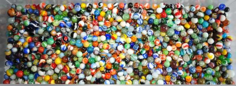 Lot of Approximately 1050 Machine Made Marbles.