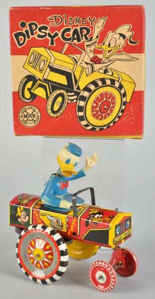 Tin Litho Marx Disney Dipsy Car Wind-Up Toy.
