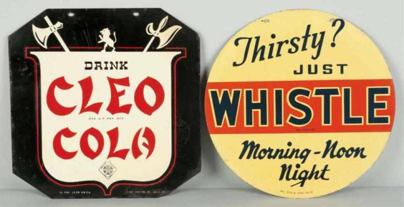 Lot of 2: Soda 2-Sided Signs. 