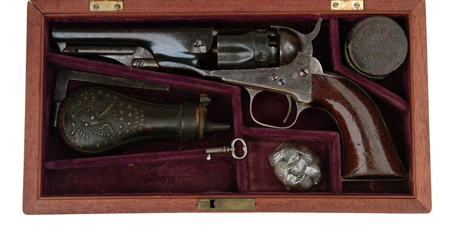 INSCRIBED CASED COLT MODEL 1862 POLICE REVOLVER,