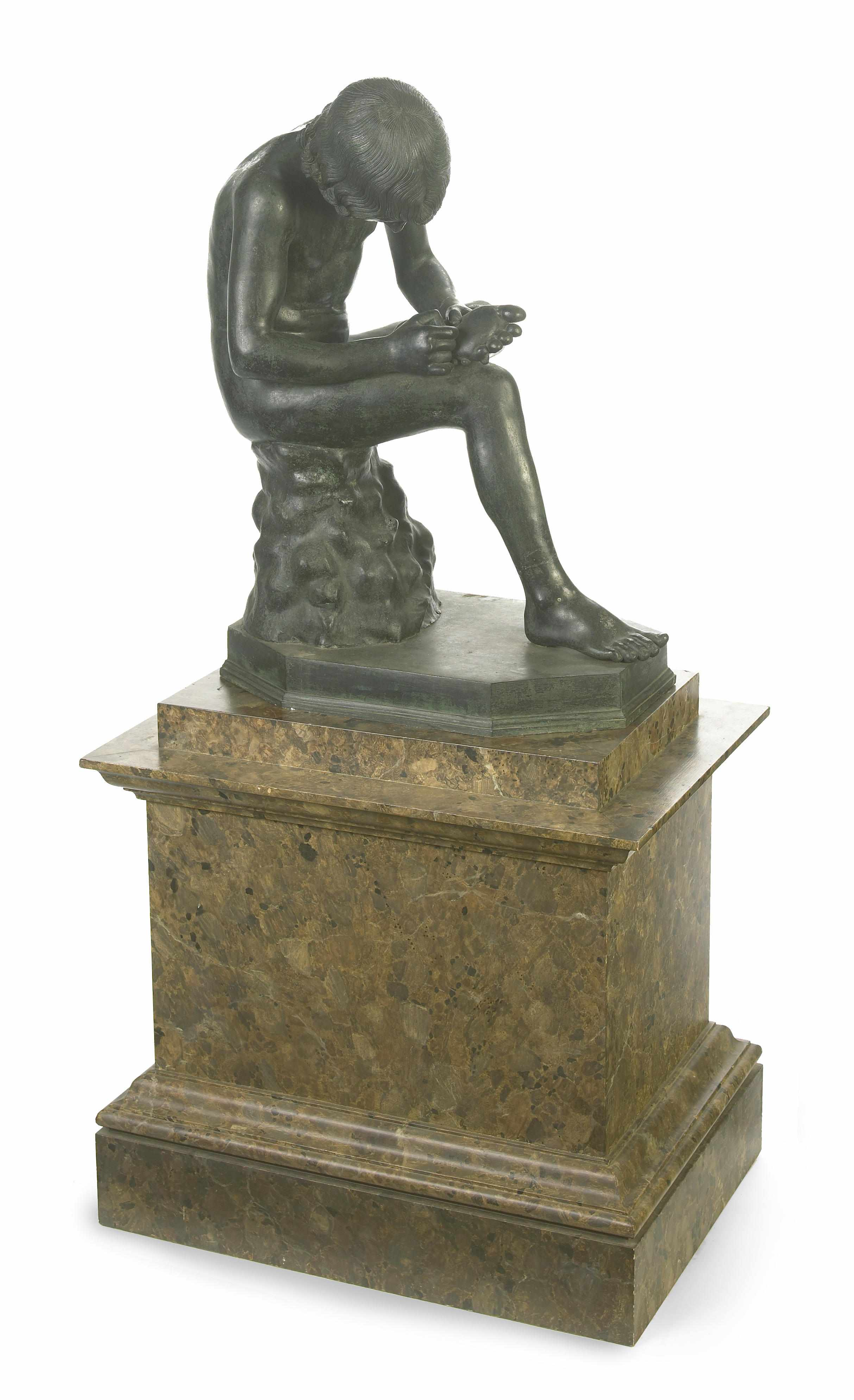 A large Italian patinated bronze figure of
