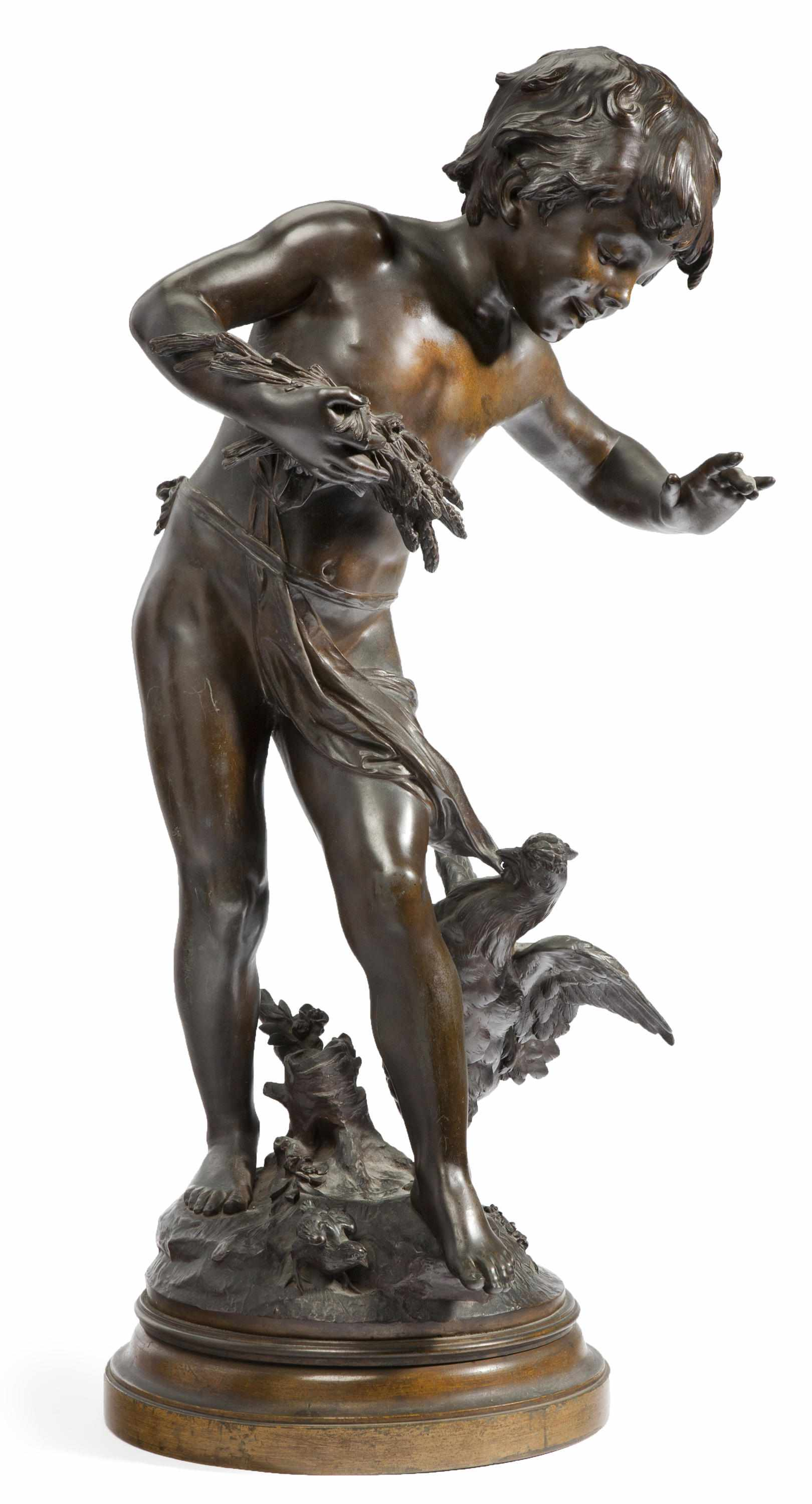 A French patinated bronze figure: La Querelle
