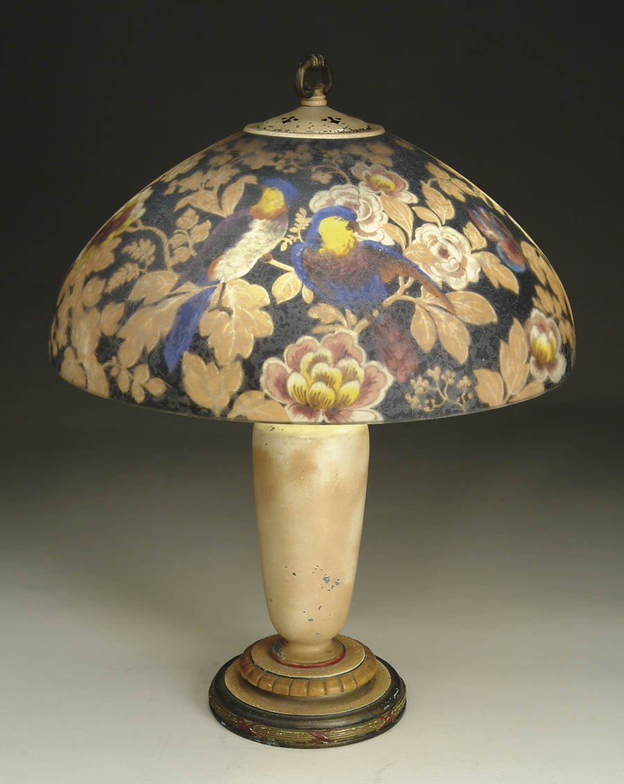 HANDEL REVERSE PAINTED TABLE LAMP. Pretty,