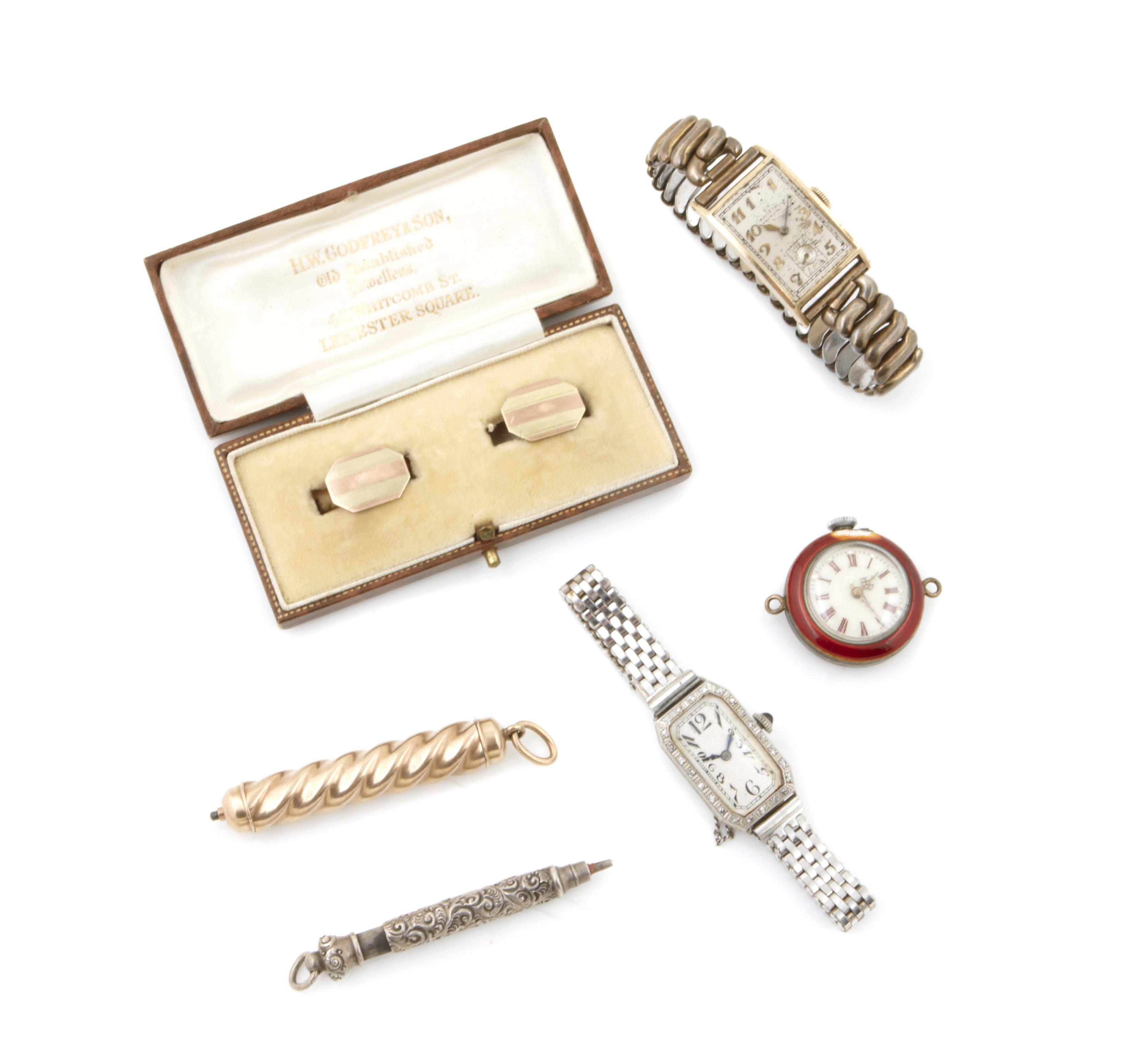A collection watches and accessories including;