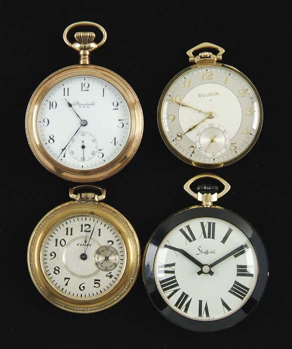 LOT OF SEVENTEEN POCKET WATCHES, CASE, SMALL
