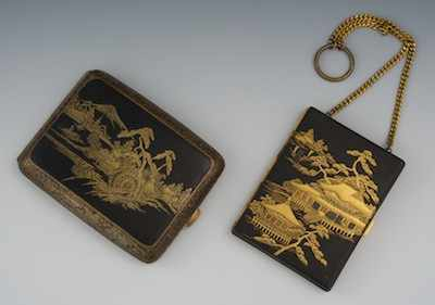 An Oriental Design Cigarette Case and a Vanity