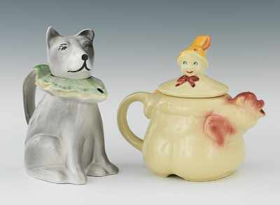 A Tom The Pipers Son Teapot and Italian Dog