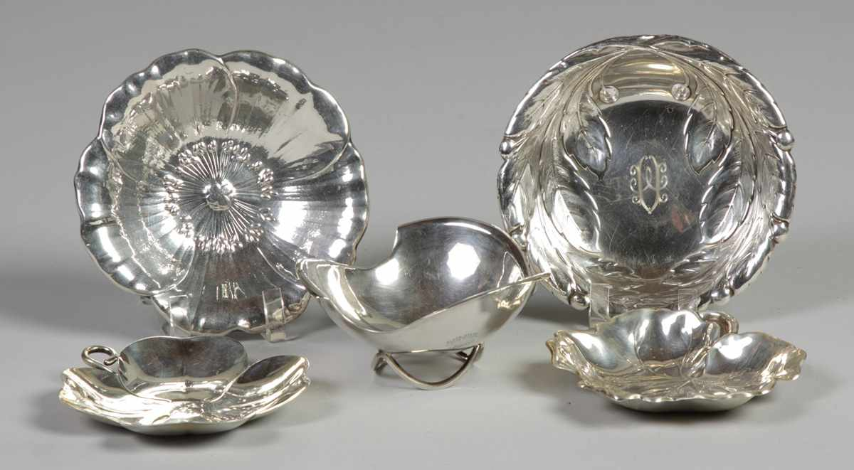 Group of 5 Sterling Dishes 143. Group of