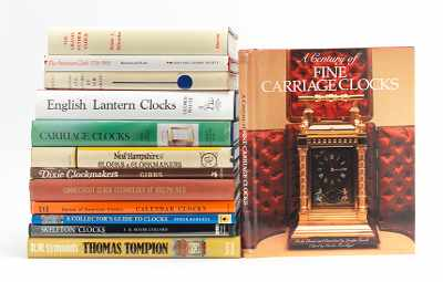 Thirteen Clock Reference Books Lot includes;
