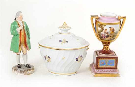 Continental and English porcelain wares 18th/19th