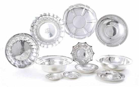 American sterling trays bowls and dishes