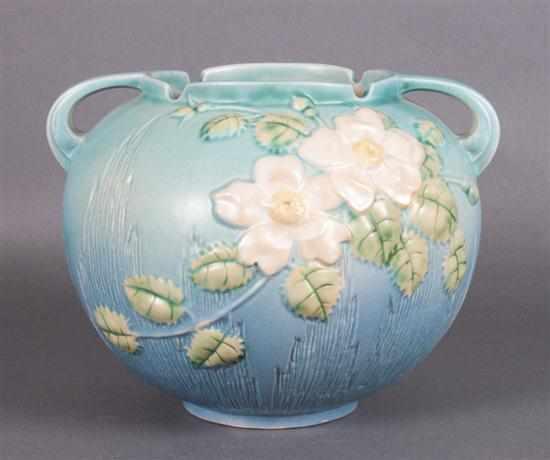 Price Guide For Roseville Pottery Vase In The White Rose