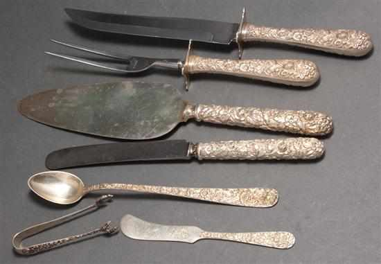 Group of ''Repousse'' and other sterling