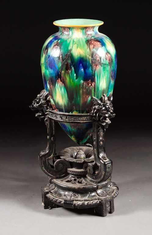 Price Guide For Minton Majolica Vase Second Half 19th Century