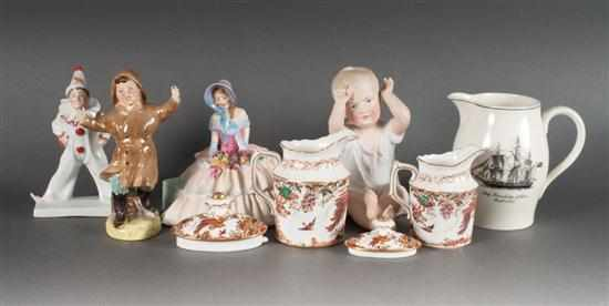 Group of assorted porcelain articles including: