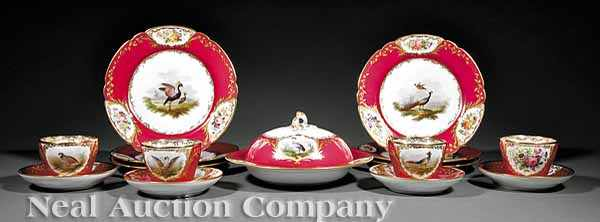 A Good Paris Porcelain Partial Dessert Service