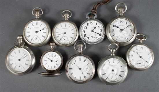 Group of pocket watches including: 1) Rockford