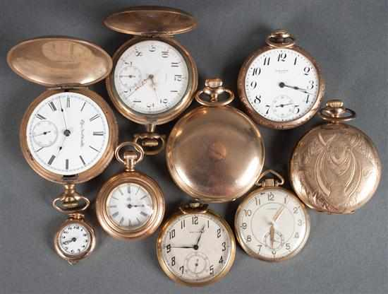 Group of gold-filled pocket watches including:
