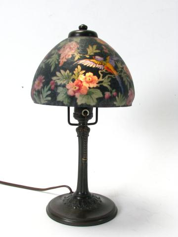 Signed and dated 1905 Handel Boudoir Lamp