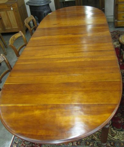 Cherry Drop Leaf Dining Table with five