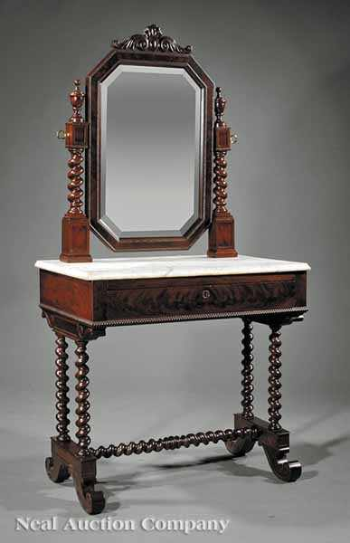 An American Carved Mahogany Dressing Table