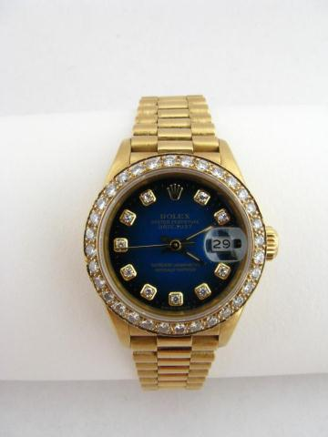 Lady's Rolex 18k Yellow Gold President Wristwatch