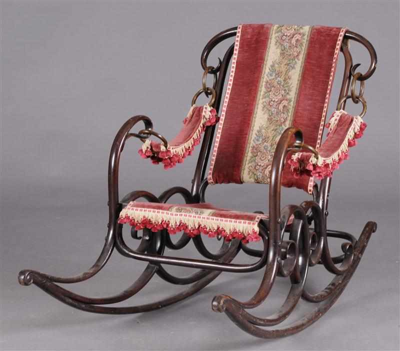 AUSTRIAN BENTWOOD ROCKING CHAIR ATTRIBUTED