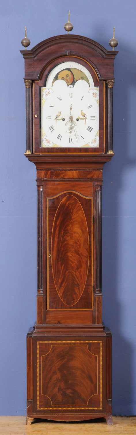 GEORGE III BRASS-MOUNTED AND INLAID MAHOGANY