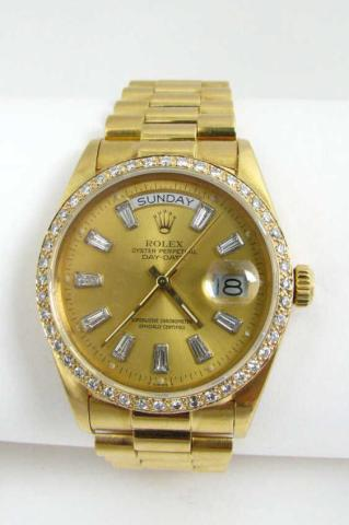 Gentleman's 18K yellow gold Rolex President