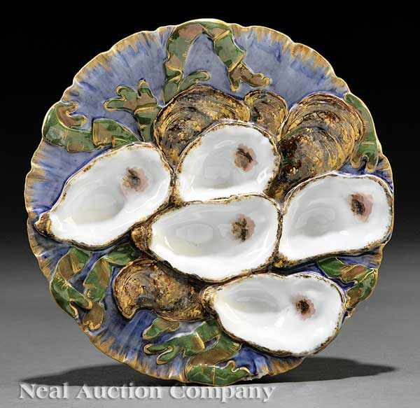 A Limoges Porcelain Oyster Plate from the