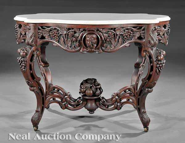 An Important American Rococo Carved and Laminated