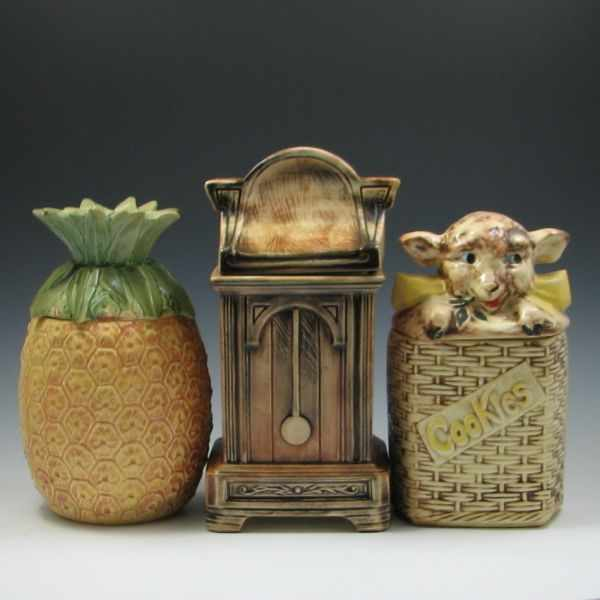 McCoy Pineapple Grandfather Clock and Lamb