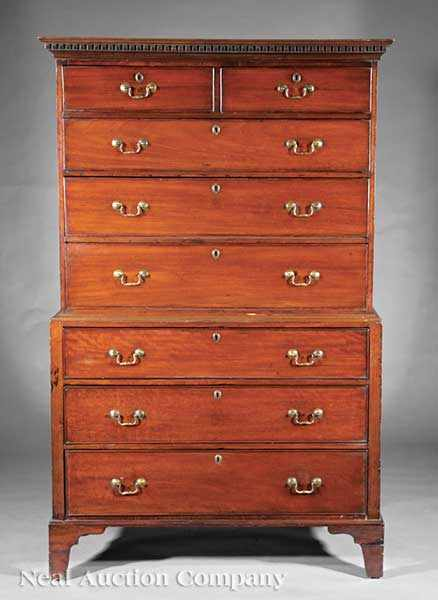 A Georgian Mahogany Chest-on-Chest c. 1800;
