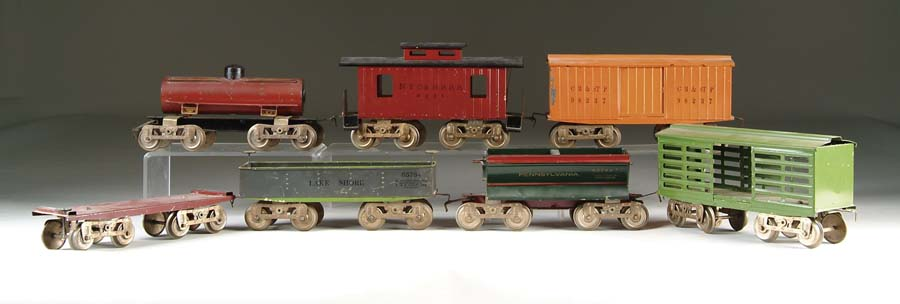 LOT OF SEVEN EARLY STANDARD GAUGE LARGE-SERIES