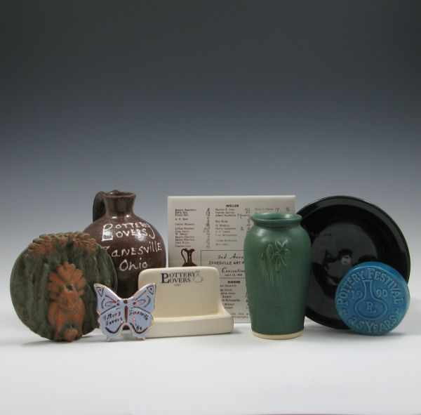 Eight (8) Pottery Lovers Commemorative Pieces