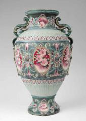Price Guide For A Nippon Porcelain Moriage Vase Of Handled