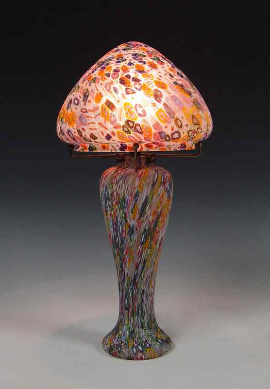 Price Guide For Millefiori Art Glass Lamp Shade 20 1 2