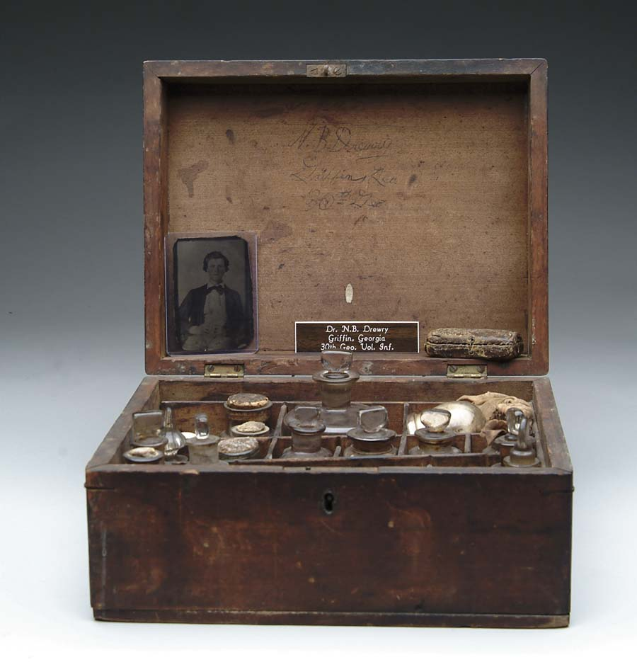 CIVIL WAR PERIOD APOTHECARY BOX. Attributed