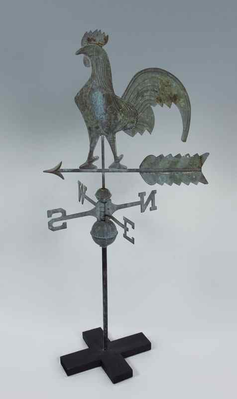MOLDED COPPER ROOSTER WEATHER VANE: Full