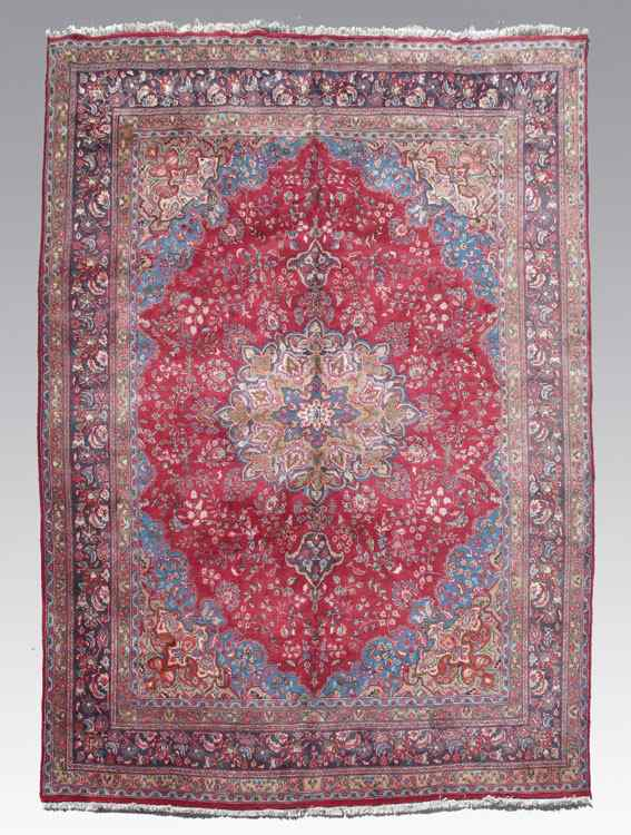 MODERN PERSIAN HAND KNOTTED WOOL RUG 9' 8''