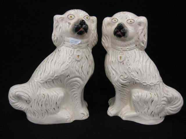 Pair of Staffordshire Pottery Dog Figurines