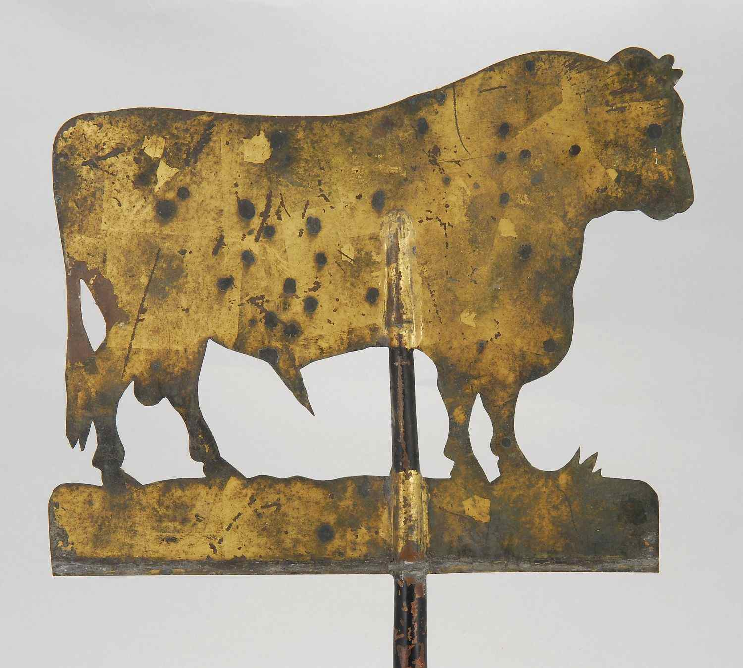 SHEET METAL COW-FORM WEATHER VANE19th CenturyWith