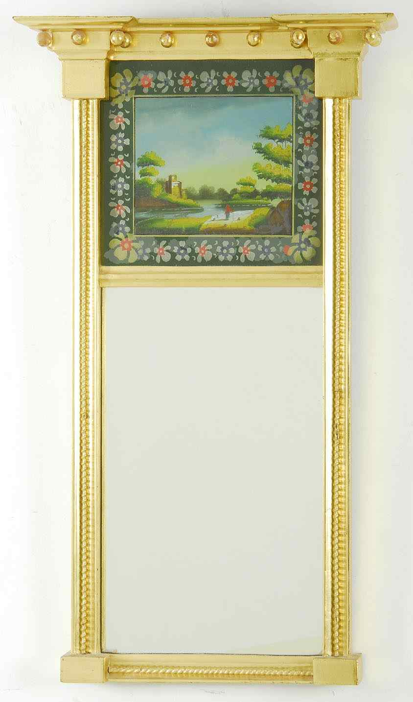ANTIQUE SHERATON TABERNACLE MIRROR19th CenturyWith