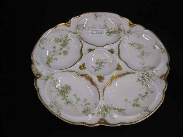 Theodore Haviland Limoges Oyster Plate flowering