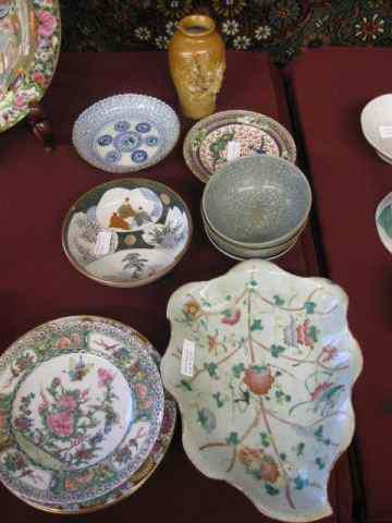 13 pcs. Oriental Pottery & Porcelain includespottery