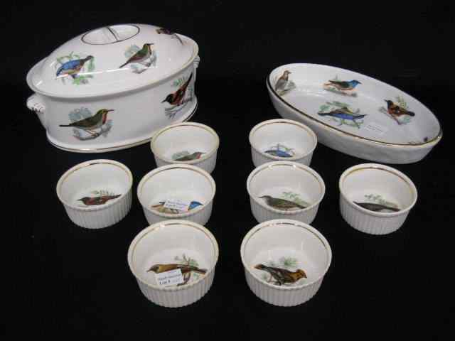 10 pcs. Lourioux French Porcelain;covered