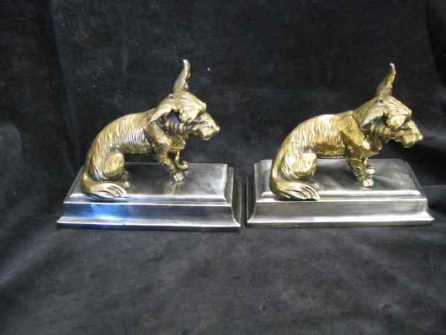 Pair of Jennings Brothers Bronzed Bookends